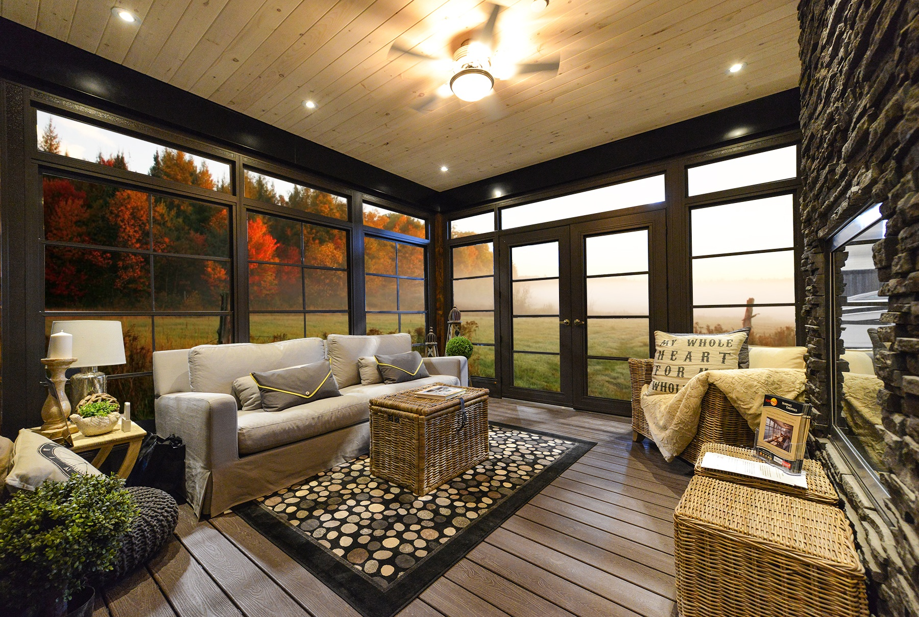 Sunspace Twin Cities Weather Master Porch Windows [Glass or Vinyl For Your Screened In Porch Windows?]